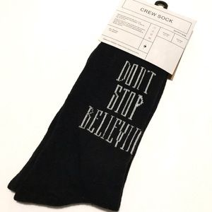 Urban Outfitters Socks Don't Stop Believin Journey